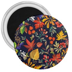 Autumn Flowers Pattern 8 3  Magnets by tarastyle