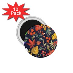 Autumn Flowers Pattern 8 1 75  Magnets (10 Pack)  by tarastyle