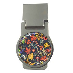 Autumn Flowers Pattern 8 Money Clips (round)  by tarastyle