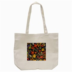 Autumn Flowers Pattern 8 Tote Bag (cream) by tarastyle