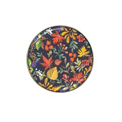 Autumn Flowers Pattern 8 Hat Clip Ball Marker (4 Pack) by tarastyle