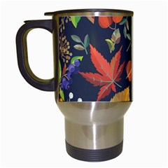 Autumn Flowers Pattern 8 Travel Mugs (white) by tarastyle