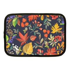 Autumn Flowers Pattern 8 Netbook Case (medium)  by tarastyle