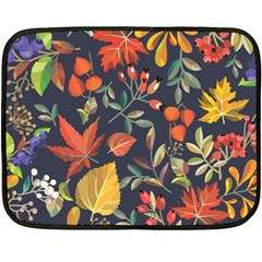Autumn Flowers Pattern 8 Fleece Blanket (mini) by tarastyle