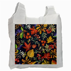 Autumn Flowers Pattern 8 Recycle Bag (one Side) by tarastyle