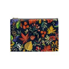Autumn Flowers Pattern 8 Cosmetic Bag (medium)  by tarastyle