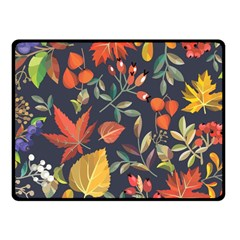 Autumn Flowers Pattern 8 Fleece Blanket (small) by tarastyle