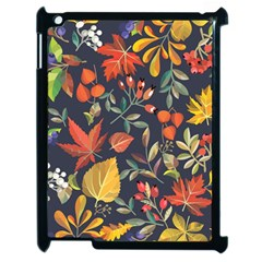 Autumn Flowers Pattern 8 Apple Ipad 2 Case (black) by tarastyle
