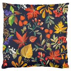 Autumn Flowers Pattern 8 Large Cushion Case (two Sides) by tarastyle