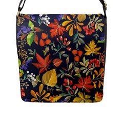 Autumn Flowers Pattern 8 Flap Messenger Bag (l)  by tarastyle