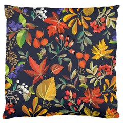 Autumn Flowers Pattern 8 Large Flano Cushion Case (two Sides) by tarastyle