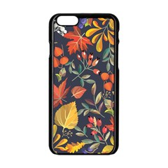 Autumn Flowers Pattern 8 Apple Iphone 6/6s Black Enamel Case by tarastyle