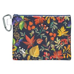 Autumn Flowers Pattern 8 Canvas Cosmetic Bag (xxl) by tarastyle