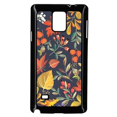 Autumn Flowers Pattern 8 Samsung Galaxy Note 4 Case (black) by tarastyle