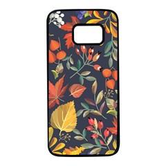 Autumn Flowers Pattern 8 Samsung Galaxy S7 Black Seamless Case by tarastyle