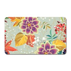 Autumn Flowers Pattern 9 Magnet (rectangular) by tarastyle