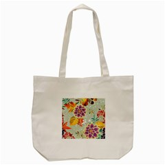 Autumn Flowers Pattern 9 Tote Bag (cream) by tarastyle