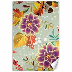 Autumn Flowers Pattern 9 Canvas 24  X 36  by tarastyle