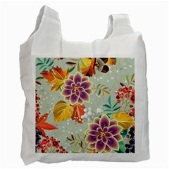 Autumn Flowers Pattern 9 Recycle Bag (one Side) by tarastyle