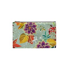 Autumn Flowers Pattern 9 Cosmetic Bag (small)  by tarastyle
