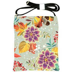 Autumn Flowers Pattern 9 Shoulder Sling Bags by tarastyle