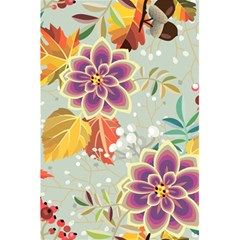 Autumn Flowers Pattern 9 5 5  X 8 5  Notebooks by tarastyle