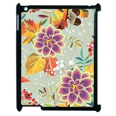 Autumn Flowers Pattern 9 Apple Ipad 2 Case (black) by tarastyle