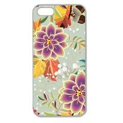 Autumn Flowers Pattern 9 Apple Seamless Iphone 5 Case (clear) by tarastyle