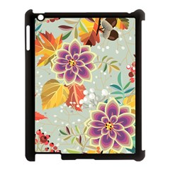 Autumn Flowers Pattern 9 Apple Ipad 3/4 Case (black) by tarastyle