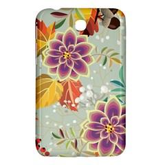 Autumn Flowers Pattern 9 Samsung Galaxy Tab 3 (7 ) P3200 Hardshell Case  by tarastyle