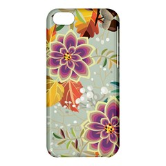 Autumn Flowers Pattern 9 Apple Iphone 5c Hardshell Case by tarastyle