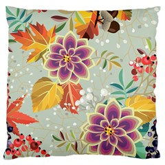 Autumn Flowers Pattern 9 Large Flano Cushion Case (one Side) by tarastyle