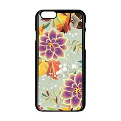 Autumn Flowers Pattern 9 Apple Iphone 6/6s Black Enamel Case by tarastyle