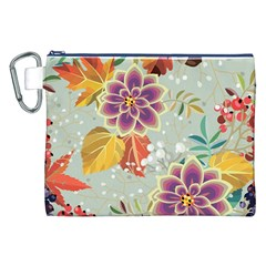 Autumn Flowers Pattern 9 Canvas Cosmetic Bag (xxl) by tarastyle