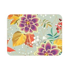 Autumn Flowers Pattern 9 Double Sided Flano Blanket (mini)  by tarastyle