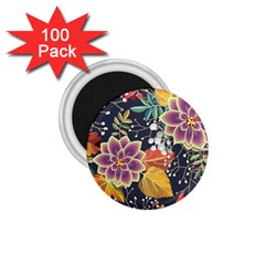 Autumn Flowers Pattern 10 1 75  Magnets (100 Pack)  by tarastyle