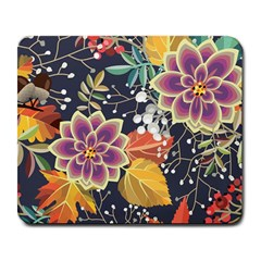 Autumn Flowers Pattern 10 Large Mousepads by tarastyle