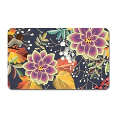 Autumn Flowers Pattern 10 Magnet (rectangular) by tarastyle