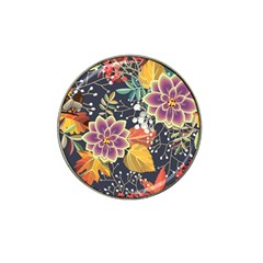 Autumn Flowers Pattern 10 Hat Clip Ball Marker (10 Pack) by tarastyle