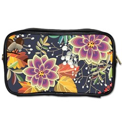 Autumn Flowers Pattern 10 Toiletries Bags 2 Side by tarastyle
