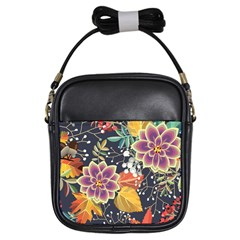 Autumn Flowers Pattern 10 Girls Sling Bags by tarastyle