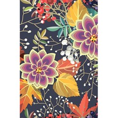Autumn Flowers Pattern 10 5 5  X 8 5  Notebooks by tarastyle
