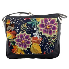 Autumn Flowers Pattern 10 Messenger Bags by tarastyle