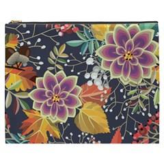 Autumn Flowers Pattern 10 Cosmetic Bag (xxxl)  by tarastyle