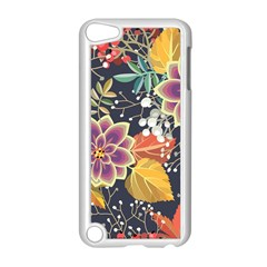 Autumn Flowers Pattern 10 Apple Ipod Touch 5 Case (white) by tarastyle