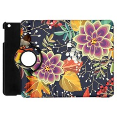 Autumn Flowers Pattern 10 Apple Ipad Mini Flip 360 Case by tarastyle