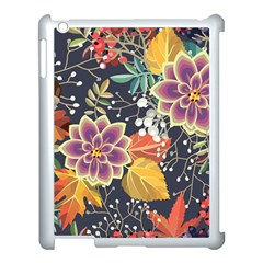 Autumn Flowers Pattern 10 Apple Ipad 3/4 Case (white) by tarastyle