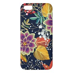 Autumn Flowers Pattern 10 Apple Iphone 5 Premium Hardshell Case by tarastyle