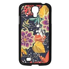 Autumn Flowers Pattern 10 Samsung Galaxy S4 I9500/ I9505 Case (black) by tarastyle