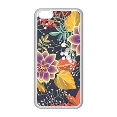 Autumn Flowers Pattern 10 Apple Iphone 5c Seamless Case (white) by tarastyle